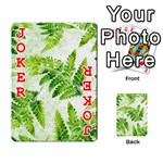 Fern Leaves Playing Cards 54 Designs  Front - Joker2