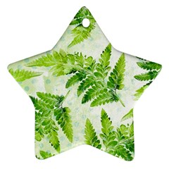 Fern Leaves Star Ornament (two Sides)