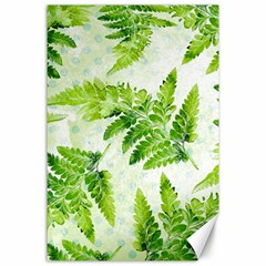 Fern Leaves Canvas 24  X 36