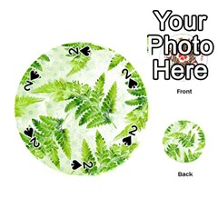 Fern Leaves Playing Cards 54 (round)  by DanaeStudio