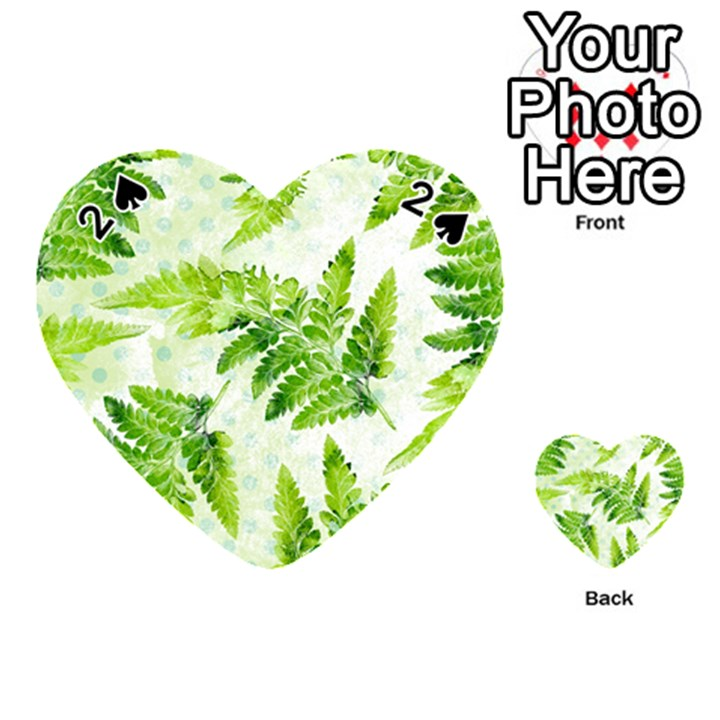 Fern Leaves Playing Cards 54 (Heart)