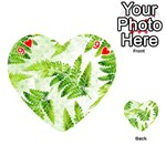Fern Leaves Playing Cards 54 (Heart)  Front - Heart9