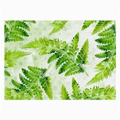 Fern Leaves Large Glasses Cloth (2-Side)