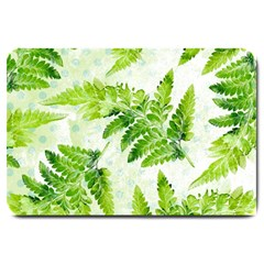 Fern Leaves Large Doormat  by DanaeStudio