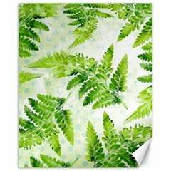 Fern Leaves Canvas 11  x 14