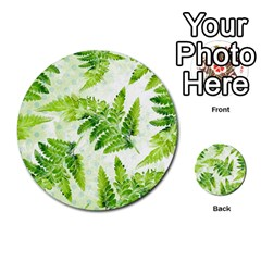 Fern Leaves Multi-purpose Cards (Round)