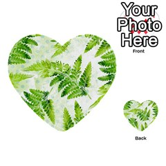 Fern Leaves Multi Purpose Cards (heart)  by DanaeStudio