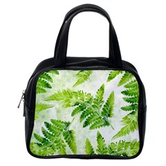 Fern Leaves Classic Handbags (one Side) by DanaeStudio