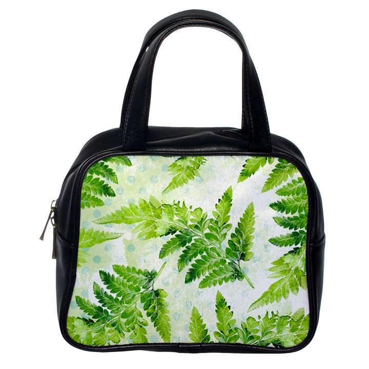 Fern Leaves Classic Handbags (One Side)