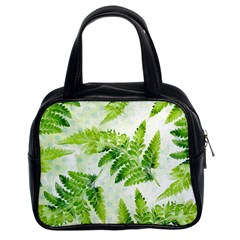 Fern Leaves Classic Handbags (2 Sides)