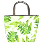Fern Leaves Bucket Bags Back