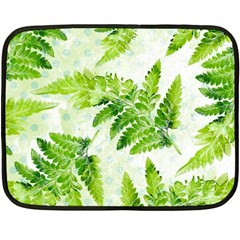Fern Leaves Double Sided Fleece Blanket (Mini)