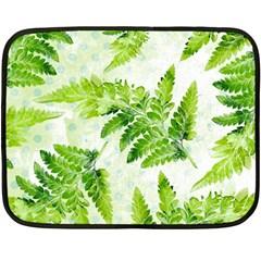 Fern Leaves Double Sided Fleece Blanket (mini)