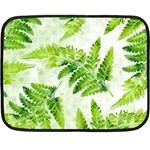 Fern Leaves Double Sided Fleece Blanket (Mini)  35 x27 Blanket Back
