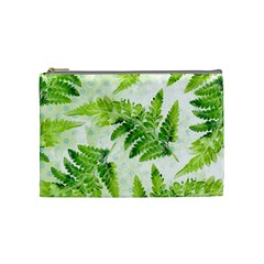Fern Leaves Cosmetic Bag (medium)  by DanaeStudio