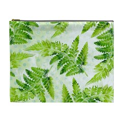Fern Leaves Cosmetic Bag (xl) by DanaeStudio