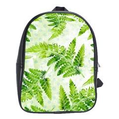 Fern Leaves School Bags(large)  by DanaeStudio