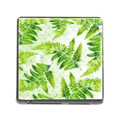 Fern Leaves Memory Card Reader (Square)