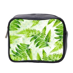 Fern Leaves Mini Toiletries Bag 2-Side