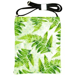 Fern Leaves Shoulder Sling Bags by DanaeStudio