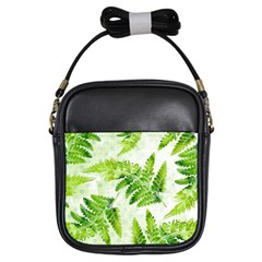 Fern Leaves Girls Sling Bags by DanaeStudio