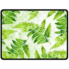 Fern Leaves Fleece Blanket (large)  by DanaeStudio