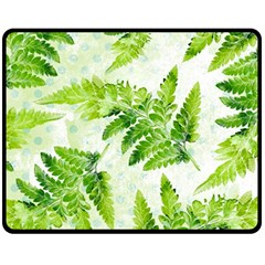 Fern Leaves Fleece Blanket (Medium)