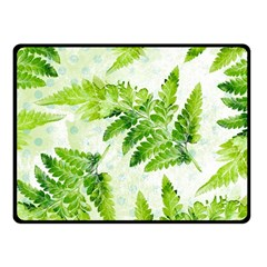 Fern Leaves Fleece Blanket (Small)