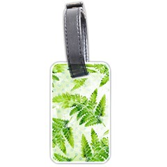 Fern Leaves Luggage Tags (one Side)  by DanaeStudio