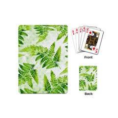 Fern Leaves Playing Cards (mini)  by DanaeStudio