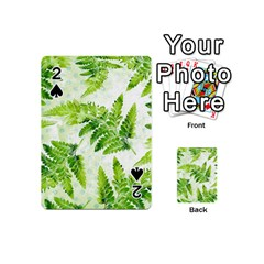 Fern Leaves Playing Cards 54 (mini)  by DanaeStudio