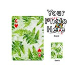 Fern Leaves Playing Cards 54 (Mini)  Front - Heart6