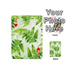 Fern Leaves Playing Cards 54 (Mini)  Front - Heart7