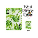 Fern Leaves Playing Cards 54 (Mini)  Front - Spade6
