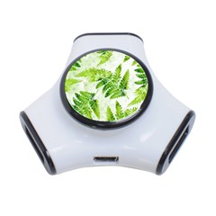 Fern Leaves 3-Port USB Hub