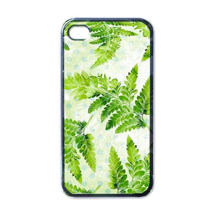 Fern Leaves Apple iPhone 4 Case (Black)
