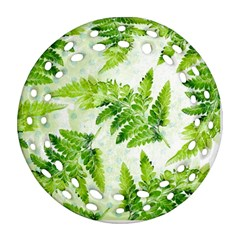 Fern Leaves Ornament (Round Filigree)