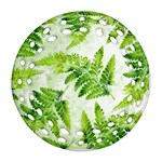 Fern Leaves Ornament (Round Filigree)  Front