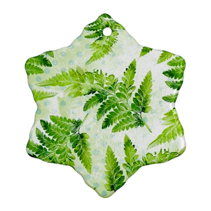 Fern Leaves Ornament (Snowflake)
