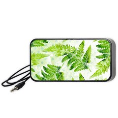 Fern Leaves Portable Speaker (black)  by DanaeStudio