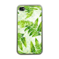 Fern Leaves Apple Iphone 4 Case (clear) by DanaeStudio