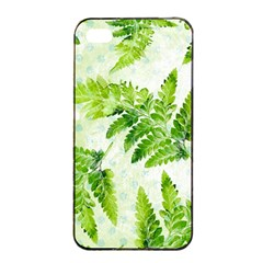 Fern Leaves Apple iPhone 4/4s Seamless Case (Black)