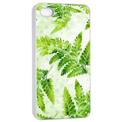 Fern Leaves Apple iPhone 4/4s Seamless Case (White)