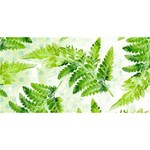 Fern Leaves Twin Hearts 3D Greeting Card (8x4) Front