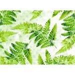 Fern Leaves LOVE Bottom 3D Greeting Card (7x5) Back