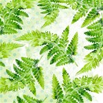 Fern Leaves Happy New Year 3D Greeting Card (8x4) Inside