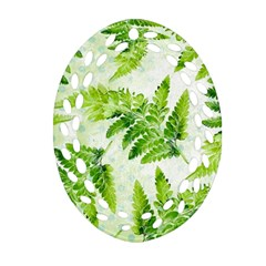 Fern Leaves Oval Filigree Ornament (2 Side)