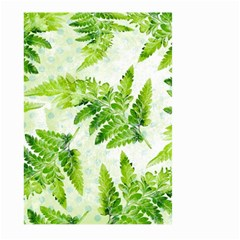 Fern Leaves Large Garden Flag (two Sides) by DanaeStudio