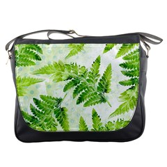 Fern Leaves Messenger Bags by DanaeStudio