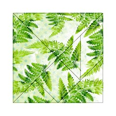 Fern Leaves Acrylic Tangram Puzzle (6  X 6 ) by DanaeStudio